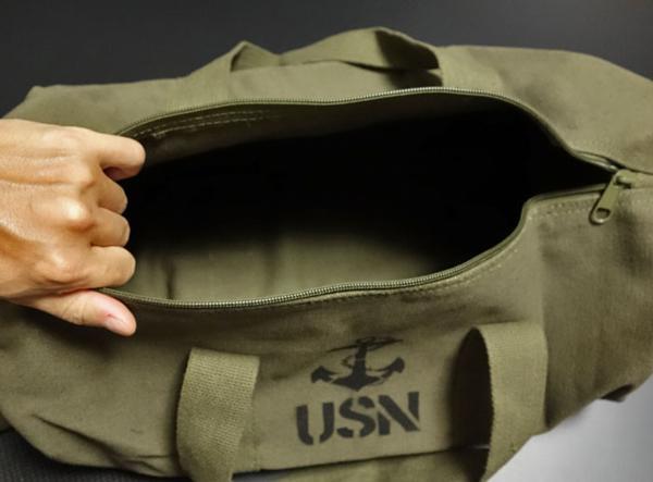 ボストンバッグ メンズ 2WAY ショルダー ROTHCO ロスコ ブランド USN アンカー 錨 / オリーブ_画像3