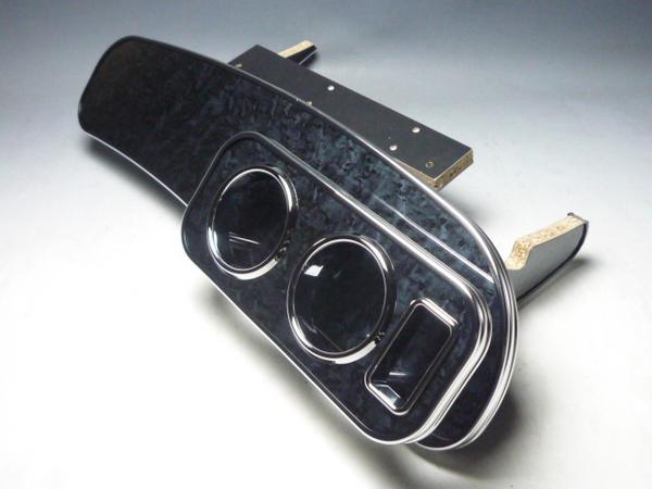 18系クラウン フロントテーブル BKウッド 携帯右 フルメッキ