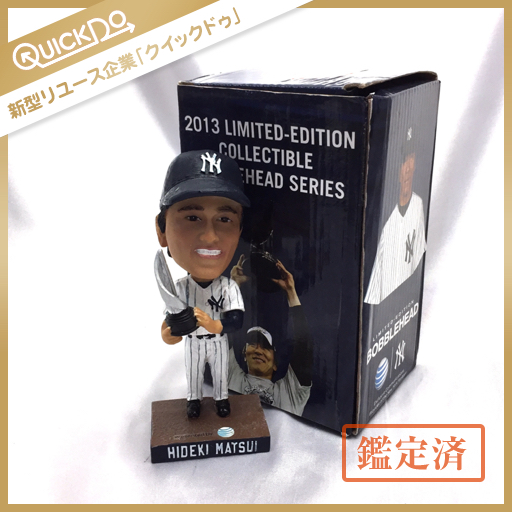 2013 限定モデル 松井秀喜 HIDEKI MATSUI ボブルヘッド 人形 ヤンキース 野球 保存箱付 グッズの画像