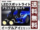 イーグルアイ/薄型 防水LEDスポットライト 黒BODY/白