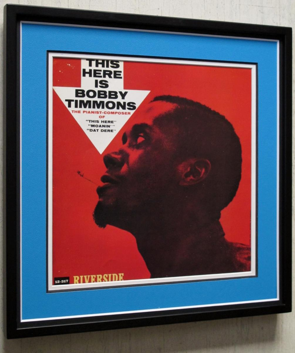 ボビー・ティモンズ/ジス・ヒア/レコードジャケット ポスター額装/Bobby Timmons/THIS HERE IS/framed riverside album cover/額入りジャズ