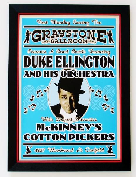 デューク・エリントン/1933ライブポスター/DUKE ELLINGTON/額付