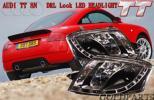 人気のブラック入荷  AUDI TT 8N TTクーペ  LEDヘッドライト 8Jスタイル アウディTT インナーブラック