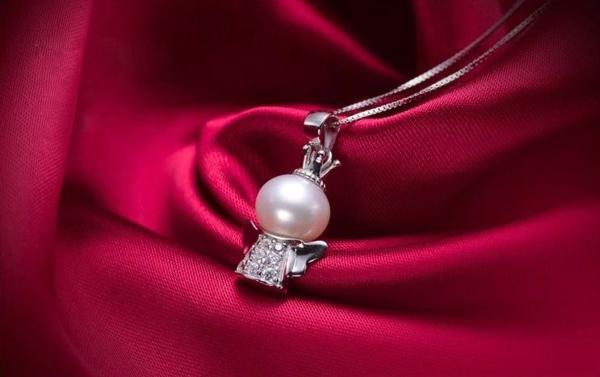 可愛い 雪の女王 10mm 大珠 貝パール ダイヤモンド ネックレス_画像3