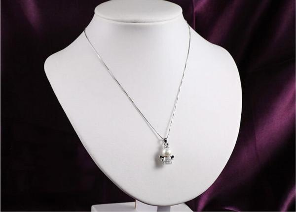 可愛い 雪の女王 10mm 大珠 貝パール ダイヤモンド ネックレス_画像6