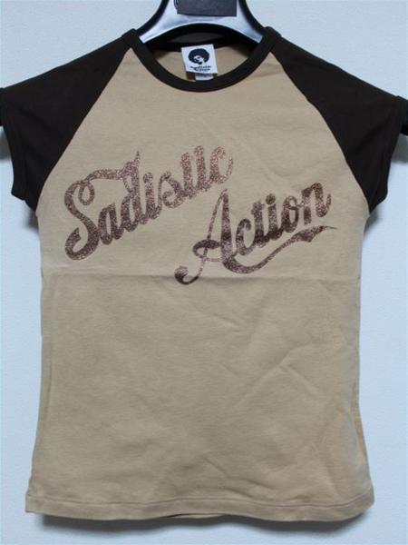 サディスティックアクション SADISTIC ACTION レディース半袖Tシャツ ラグラン Sサイズ 新品_画像1