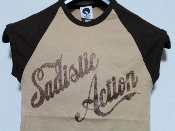 サディスティックアクション SADISTIC ACTION レディース半袖Tシャツ ラグラン Sサイズ 新品_画像2
