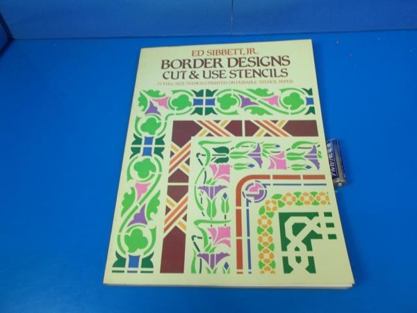 1982年 BORDER DESIGNS CUT&USE STENSILS ED SIBBETT_画像1
