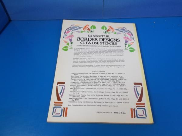 1982年 BORDER DESIGNS CUT&USE STENSILS ED SIBBETT_画像2