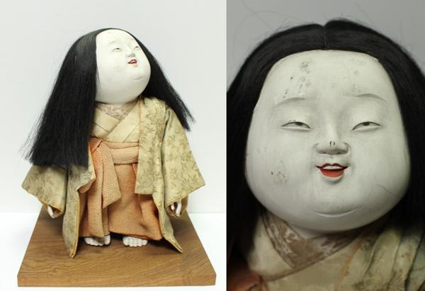 作りの細かな人形 御所人形 0713M1r※_画像1