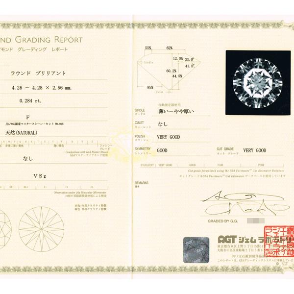 BJ2951【BSJBJ】FURRER-JACOT フラージャコー Pt950 ダイヤモンド0.284ct リング 約15号 本物_画像4