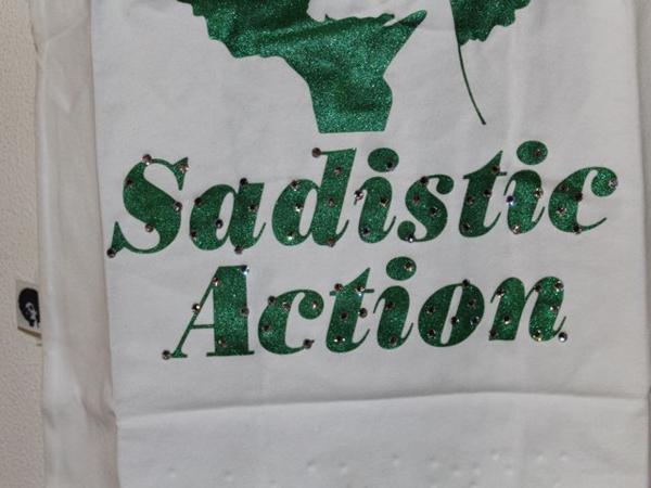 サディスティック アクション SADISTIC ACTION レディースタンクトップ 白x緑 東京 Japan 新品_画像4