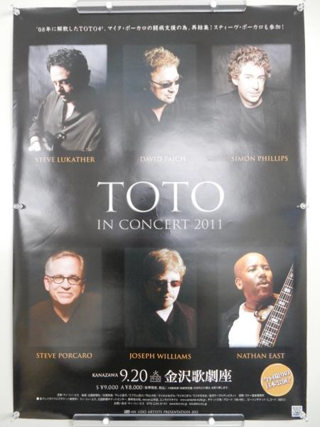 F896◆TOTO (トト) コンサート 告知ポスター 2011 日本公演/B2サイズ/ロックバンド◆