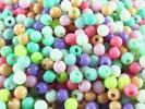 送料無料 ビーズ 小 4mm 800個 パステル カラー ミックス 丸 まる アクセサリー チャーム モチーフ パーツ デコ ネイル 素材 (AP0292)