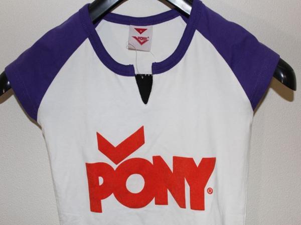 ポニー PONY レディ-スラグランキーネックTシャツ Sサイズ 新品_画像2