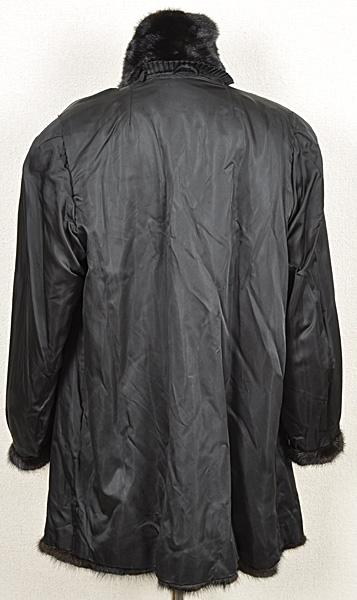 ミンク コート Fサイズ 毛皮 ブラック 中古 送料無料 【J95】MINK BLACK 黒_画像4