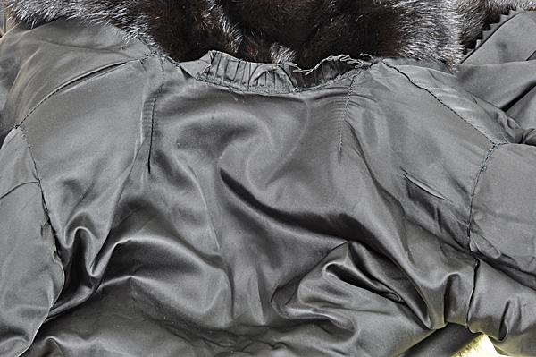 ミンク コート Fサイズ 毛皮 ブラック 中古 送料無料 【J95】MINK BLACK 黒_画像6