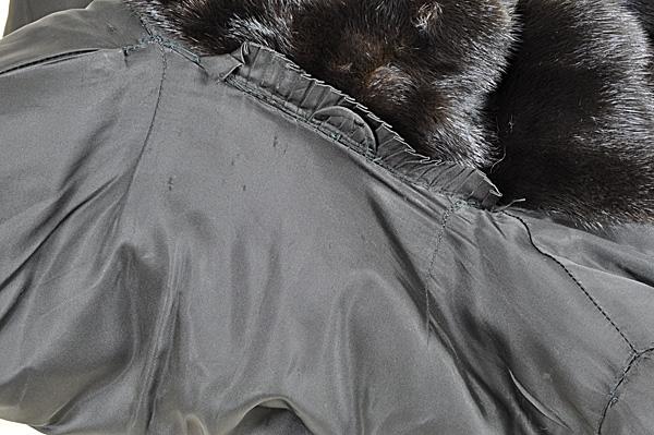 ミンク コート Fサイズ 毛皮 ブラック 中古 送料無料 【J95】MINK BLACK 黒_画像10