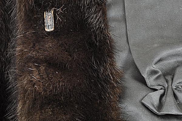 ミンク コート Fサイズ 毛皮 ブラック 中古 送料無料 【J95】MINK BLACK 黒_画像9