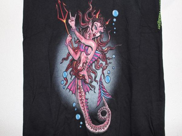 エドハーディー ED HARDY レディース半袖Tシャツ ブラック Sサイズ NO410 新品_画像3