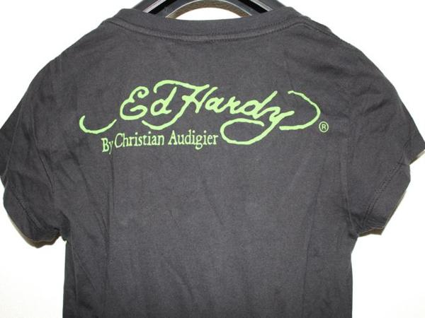 エドハーディー ED HARDY レディース半袖Tシャツ ブラック Sサイズ NO410 新品_画像5