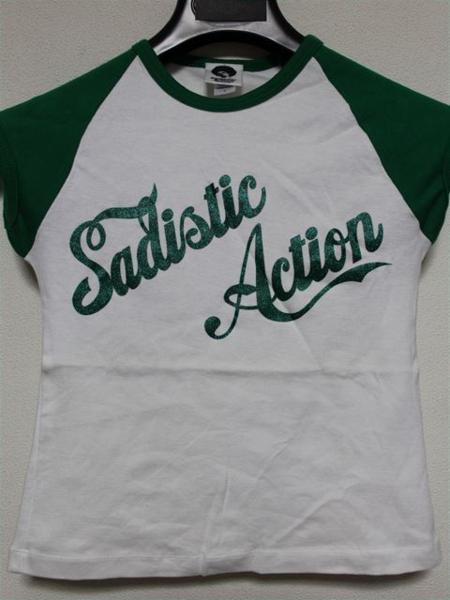 サディスティックアクション SADISTIC ACTION レディース半袖Tシャツ Sサイズ 新品_画像1