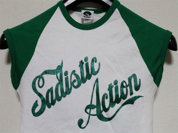 サディスティックアクション SADISTIC ACTION レディース半袖Tシャツ Sサイズ 新品_画像2