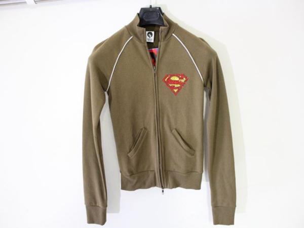 サディスティックアクション SADISTIC ACTION レディース スーパーマン トラックジャケット グリーンxシルバー 新品_画像1