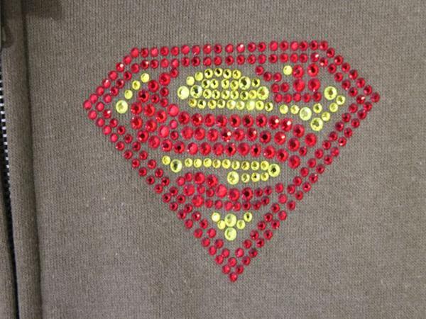 サディスティックアクション SADISTIC ACTION レディース スーパーマン トラックジャケット グリーンxシルバー 新品_画像4