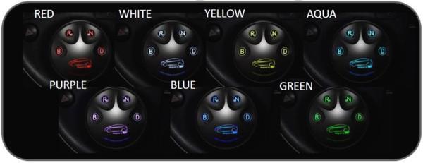 【シフトバイワイヤ】apr シフト スイッチ ESS7 ZVW40 プリウスα エレクトロニック ポジション コントロール 4H0019 7色LED_aprシフトスイッチESS7プリウスαZVW40 7