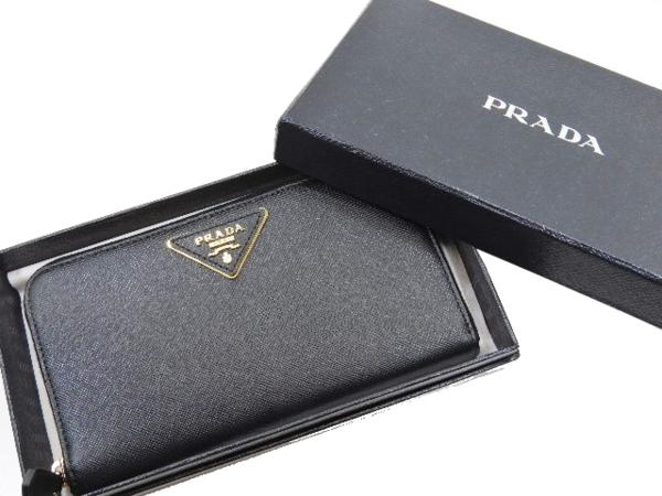 プラダ PRADA 未使用 極美品 サフィアーノ レザー ラウンドジップ 長財布_画像2