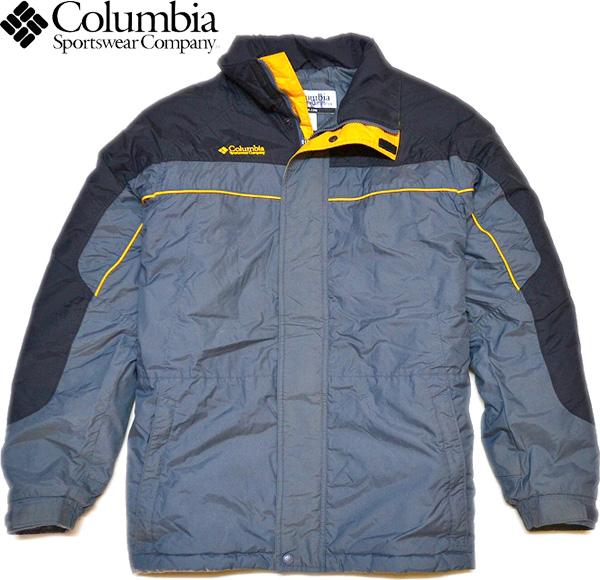 1点物◆コロンビアColumbiaナイロンジャケットMLグレー黒690778_画像1