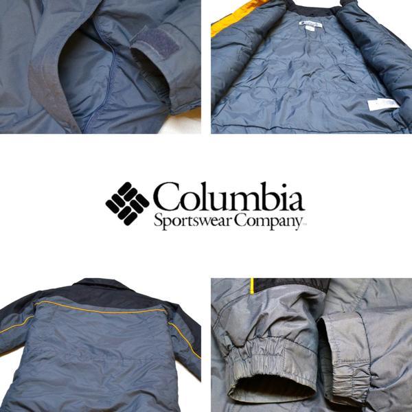 1点物◆コロンビアColumbiaナイロンジャケットMLグレー黒690778_画像3