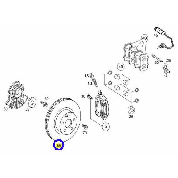 OZ製 フロント ディスクローター (1台分) ベンツ W220 W215 (220-421-0912/400.3607.20)_画像2