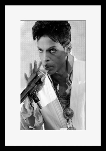 BW:人気ロックバンド!プリンス&ザ・レヴォリューション/Prince and The Revolution/モノクロ写真フレーム-5