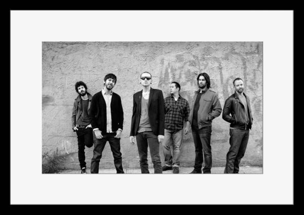 BW:人気ロックバンド!リンキン・パーク/Linkin Park/モノクロ写真フレームマット付-15