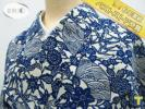 ★着物10★ 1円 木綿 駒絽 夏物 地紙 楓 菊唐草 浴衣 身丈147cm 裄62cm ☆☆☆