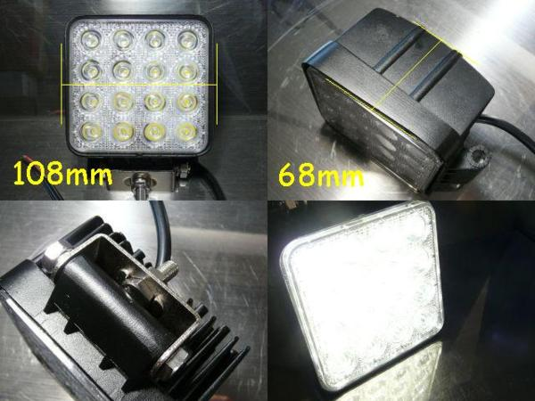 「LED デッキライト【12V白色】角型 防水 作業灯 船舶 ボート①#%g」の画像3