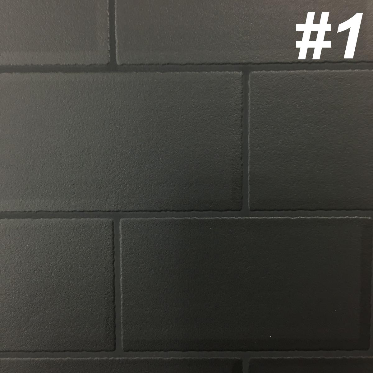 【黒部屋シリーズ】黒色壁紙クロス4種ブラックウォールペーパー_画像3