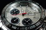 1円×3本 新品未使用 本物 正規品 CHARLES PERRIN シャルルペリン 世界限定 クロノグラフ 腕時計 SILVER×SILVER 銀×銀
