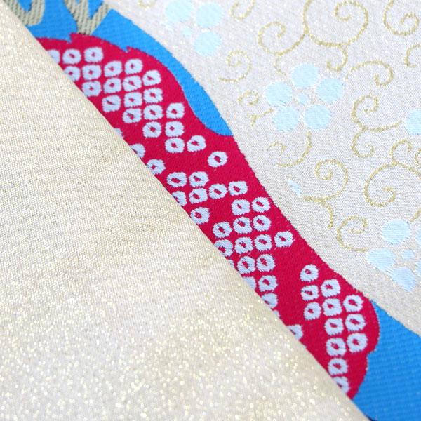 袋帯 合繊 全通 振袖用 両縁縫い上げ済 日本製 新品(株)安田屋_画像2