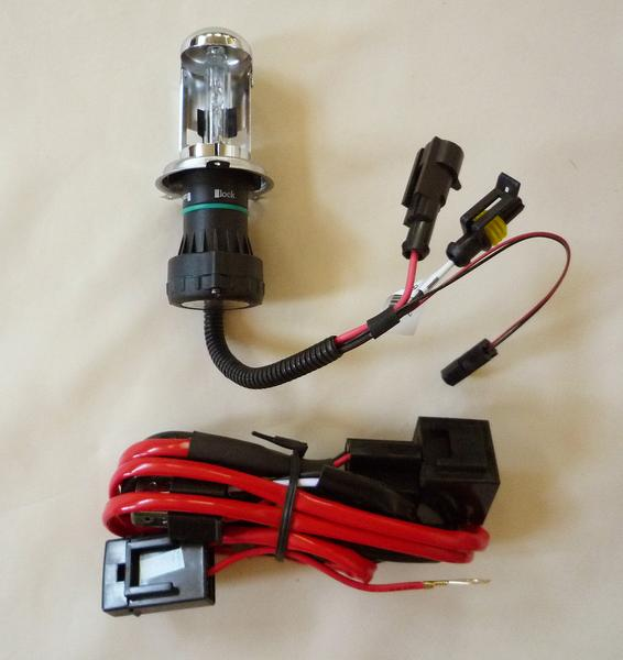 HIDバルブ 12V 35W 6000K H4 Hi/Lo スライド式1R-新品-_画像1