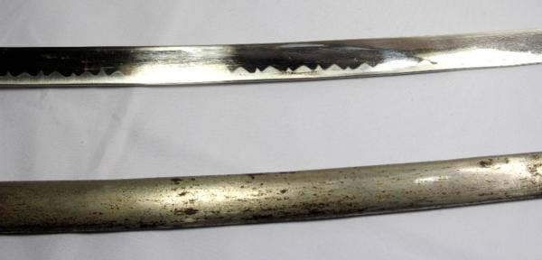 ◆旧日本陸軍・尉官用指揮刀◆サーベル模擬刀◆全長104cm◆桜紋_画像4