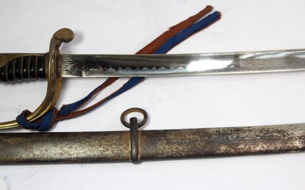 ◆旧日本陸軍・尉官用指揮刀◆サーベル模擬刀◆全長104cm◆桜紋_画像5