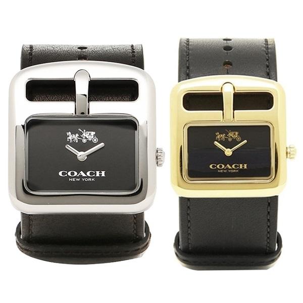 【数量限定】新品 即納 コーチ 時計 ペアウォッチ ダッフルバックル ブラック レザー 1450232414502335