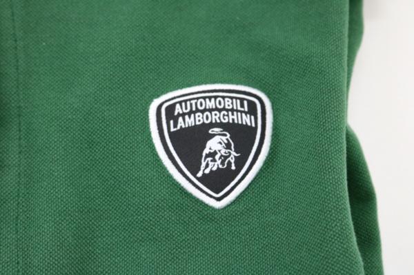 未使用 AUTOMOBILI LAMBORGHINI ランボルギーニ ポロシャツ グリーン S_画像4