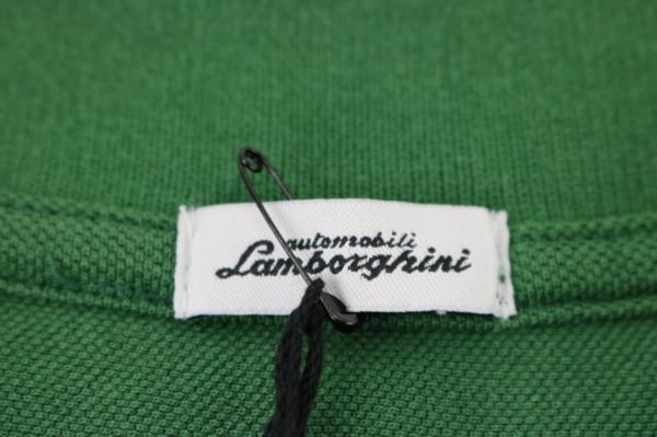 未使用 AUTOMOBILI LAMBORGHINI ランボルギーニ ポロシャツ グリーン S_画像5