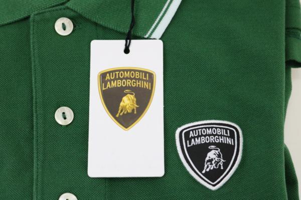 未使用 AUTOMOBILI LAMBORGHINI ランボルギーニ ポロシャツ グリーン S_画像7