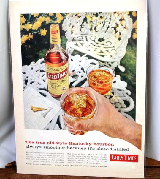 希少!LIFE誌切り抜き★ Early Times アーリータイムス・バーボン・ウイスキーの広告 1960年代★ビンテージ雑誌ライフ切抜き