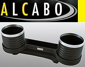 【M's】W211 Eクラス/W219 CLSクラス ALCABO 高級 ドリンクホルダー(BK+リング)/灰皿対応品 アルカボ カップホルダー AL-M302BS ALM302BS_画像1